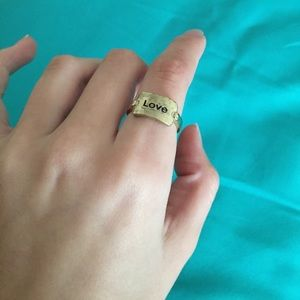Jewelry - Vintage, Worn-down Looking Gold 'Love' Ring